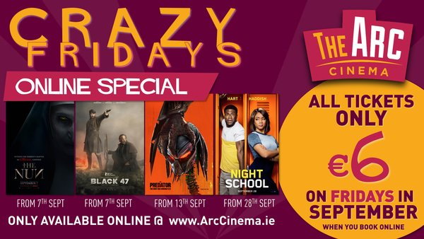 Arc Wexford Crazy Fridays